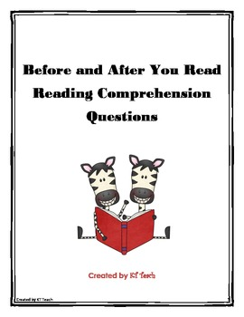 Pre and Post Reading Comprehension Sheets