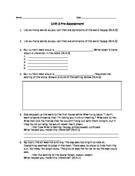 Pre-assessment for RL4.3