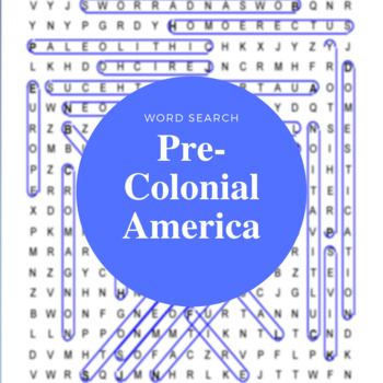 Pre-Colonial North America Word Search (With Hidden Message)