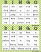 Pre-primer Sight Word Bingo (half page)