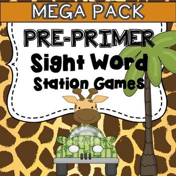 Pre-primer Sight Word Station Games