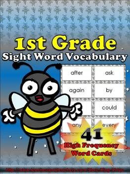 1st Grade Sight Word Vocabulary - 41 High Frequency Word C