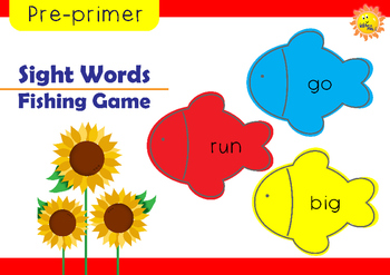 Pre-primer Sight Words: Fishing Game