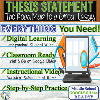 THESIS STATEMENT - Introduction to Writing - Middle School