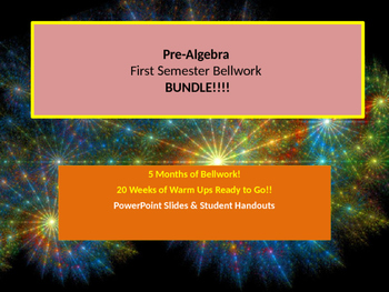 PreAlgebra 8 First Semester BELLWORK BUNDLE!