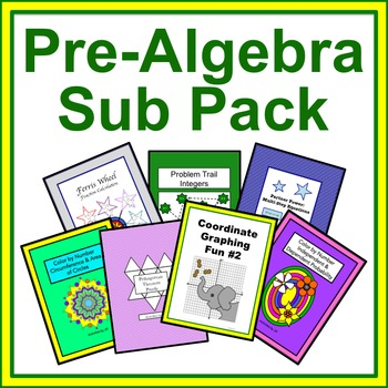 Pre-Algebra Sub Pack