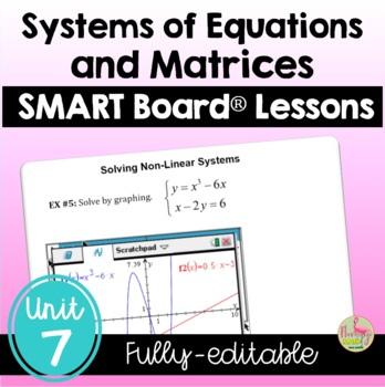 PreCalculus: Systems and Matrices SMARTBOARD Lessons Bundle