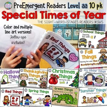 Guided Reading - PreEmergent Sight Word Readers and Activi