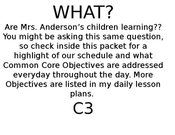 PreK-Common Core C3 Goals (TLE) and standards listed by yo