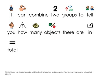 PreK Common Core Standards with Child Friendly Words & Visuals