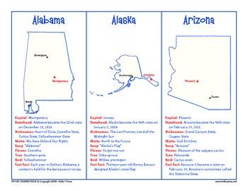 PreK-Grade 6 U.S. States Reference