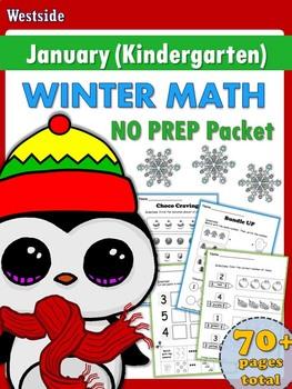 PreK & K Math NO PREP Winter Theme Packet