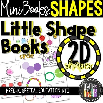 Little Shape Books: Mini Books, 2D Shapes, Geometry {Prek-