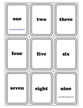 PreK Primary Kindergarten Number Word, Numbers, Pictures M