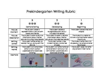 Pre-Kindergarten (PreK) Writing Rubric (PreKindergarten/Pr
