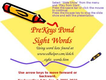 PreKeys 10 Sight Words