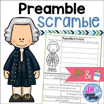 Preamble Scramble: Cut and Paste Activity