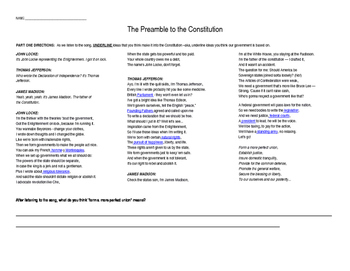 Preamble to the Constitution - Flocabulary Song and Transl