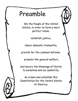 Preamble to the Constitution of the United States