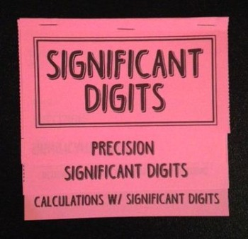 Precision and Significant Digits (Foldable)