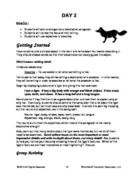 Predators On The Prowl - An Integrated Writing Activities
