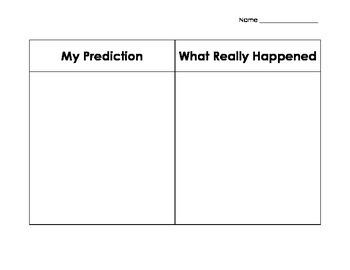 Predicting Graphic Organizer