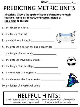 Predicting Measurements (Metric length)