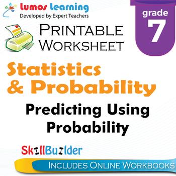 Predicting Using Probability Printable Worksheet, Grade 7
