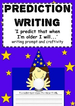 Prediction writing and craftivity