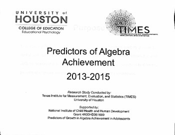 Predictors of Algebra I Achievement