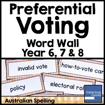 Preferential Voting Word Wall