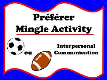 Préférer Mingle Activity