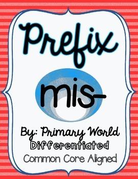 Prefix Mis- Activity CCSS