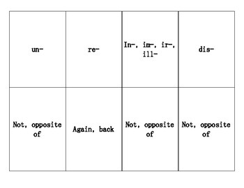 Prefix Playing Cards