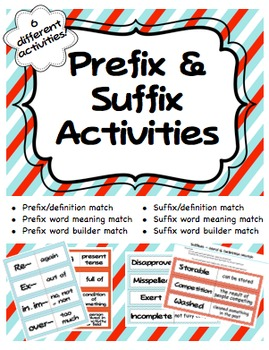 Prefix & Suffix Activities