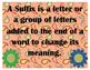 Prefix & Suffix Match Game - Activity