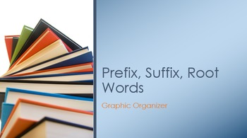 Prefix, Suffix, Root Words Graphic Organizer