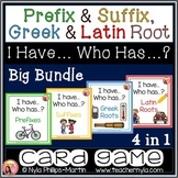 Prefix Suffix and Greek and Latin Roots 'I Have Who Has' G