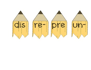 Prefix Word Work: Dis- Pre- Re- & Un-