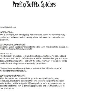 Prefix and Suffix Spiders