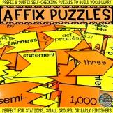 Prefix and Suffix (Affix) Puzzles