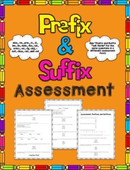 Prefix and Suffix Assessment