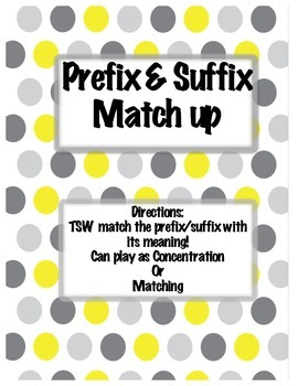 Prefix and Suffix Match Up