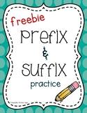 Prefix and Suffix (Freebie)