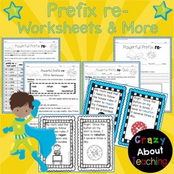Prefix re- Worksheet
