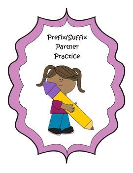Prefix/Suffix Partner Practice (common core aligned)