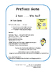 PREFIXES | TASK CARDS | Practice | I Have, Who Has? | REVI