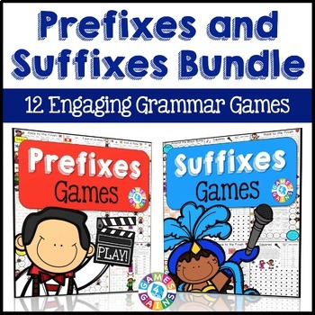 Prefixes and Suffixes Activities Bundle: 12 Prefixes and S