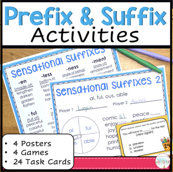 Prefixes and Suffixes Games and Task Cards
