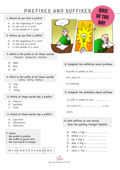 Prefixes and Suffixes